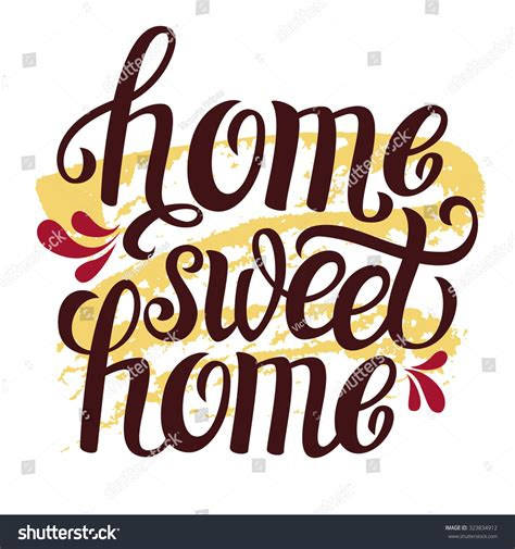 house warming music hand lettering typography poster calligraphic quote home sweet home for housewarming