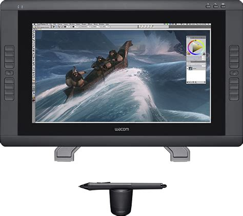 best buy wacom cintiq wacom cintiq 22hd 21 5 quot interactive pen display black