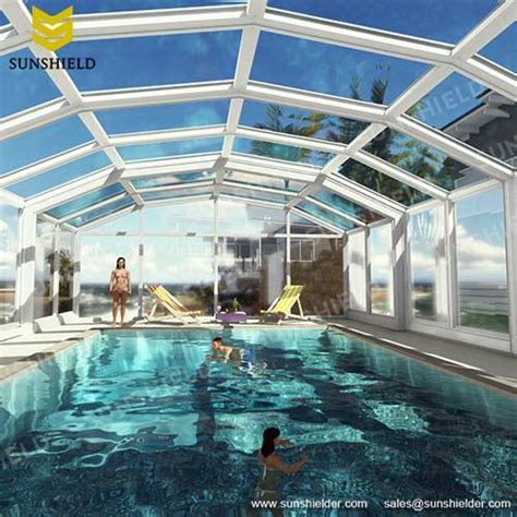 swimming pool enclosures sunshield glass pool dome