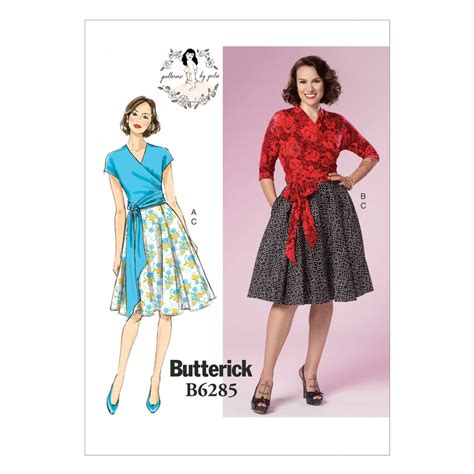 pattern sewing butterick butterick ladies sewing pattern 6285 vintage style wrap