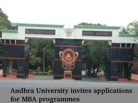 Andhra School Of Distance Education Mba by Andhra Invites Applications For Mba Programmes