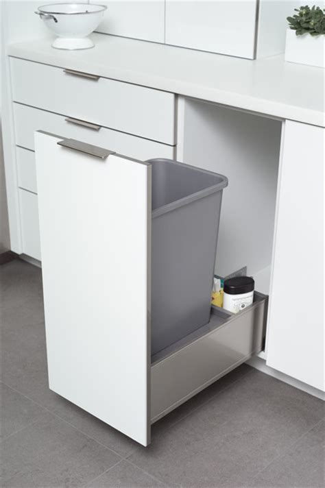 stainless steel roll out trash bin cabinet from dura