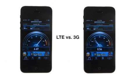 iphone 5 4g lte vs 3g speed test