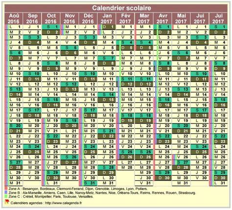 Calendrier 2017 Quantieme Calendrier Annuel Scolaire D Ao 251 T 224 Juillet