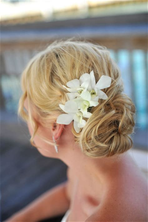Wedding Hair With Orchids by Key West Florida Destination Wedding The Destination