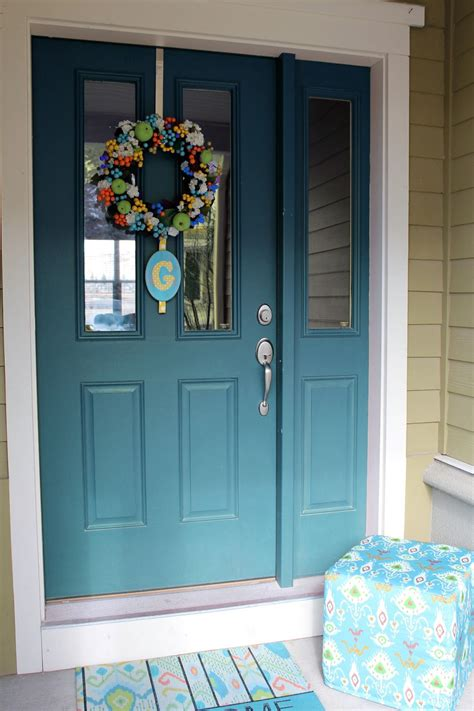teal front door worth pinning changing the color of the front door