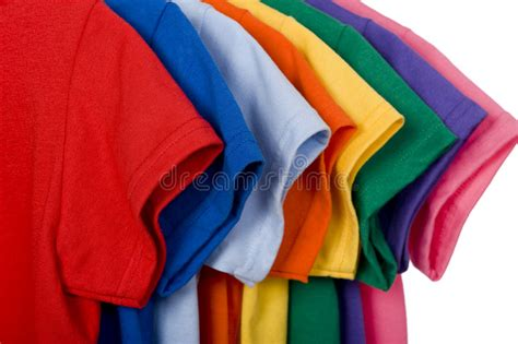 colorful t shirts colorful t shirts on white stock photo image of blue