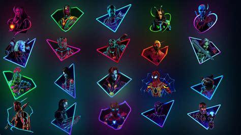 combined neon art desktop wallpaper original