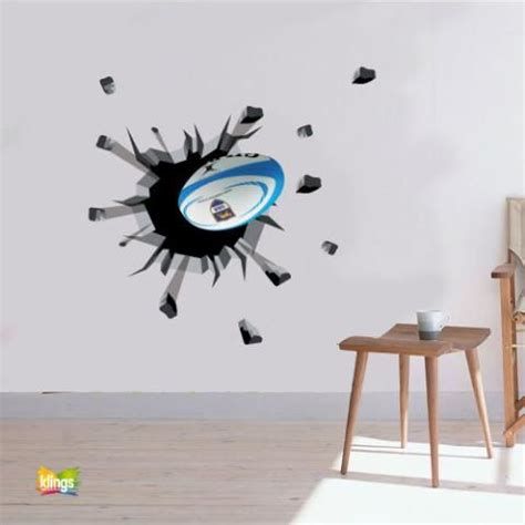 rugby wall stickers vinilos decorativos rugby pelota de rugby que rompe
