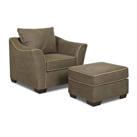 Accent Chair And Ottoman Set Klaussner Thompson Chair And Ottoman Set Atg Stores