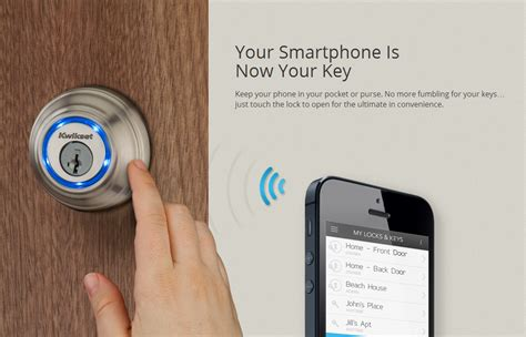 Bluetooth Front Door Lock The Kwikset Kevo Bluetooth Enabled Door Lock Is Available For Pre Order Today Unlocks In September