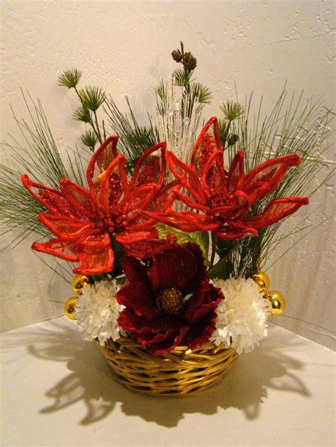 christmas silk floral arrangement 3014 seasonal