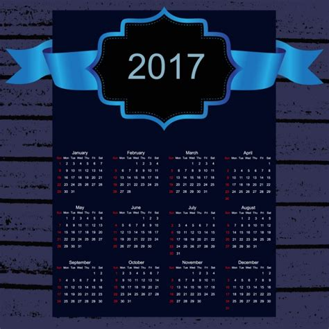 design calendar 2017 2017 calendar design vector free download
