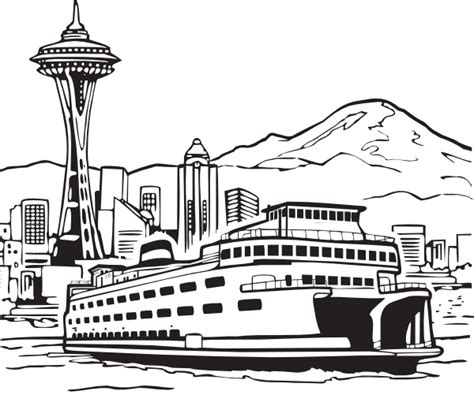 seattle coloring pages