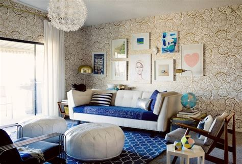 blue and gold living room nursery inspired by oh living room