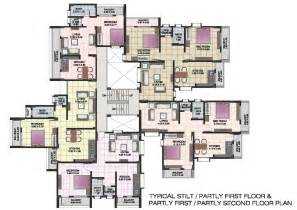 Small Apartment Building Plans by Apartment Floor Plans Of Shri Krishna Residency Kankavali