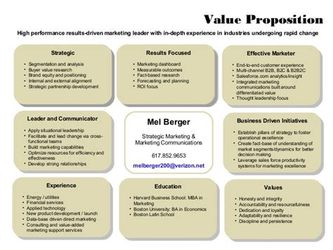 exle of value proposition exle personal values images