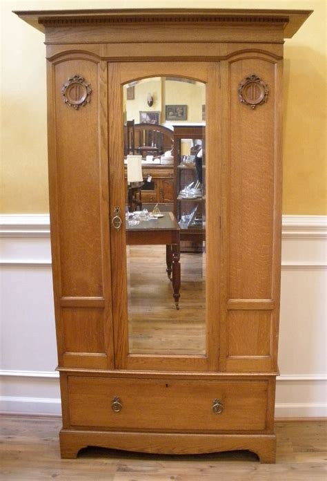 antique oak armoire wardrobe antique wardrobe armoire english oak victorian mirrored