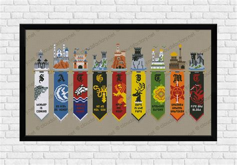A Frame House Kits by Game Of Thrones Houses Banners