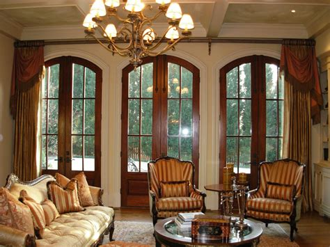 window treatment options arched french door with luxurious classic drapes window