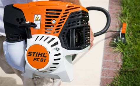 stihl bed edger stihl fc 91 edger curved shaft review ope reviews