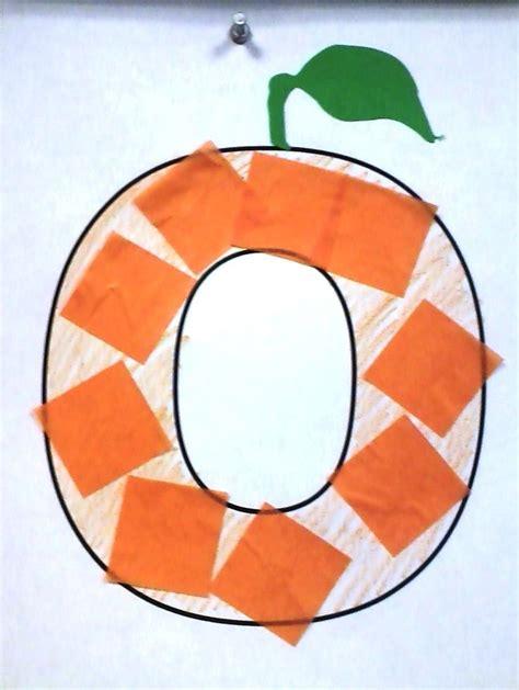 color o o is for orange crafts alphabet