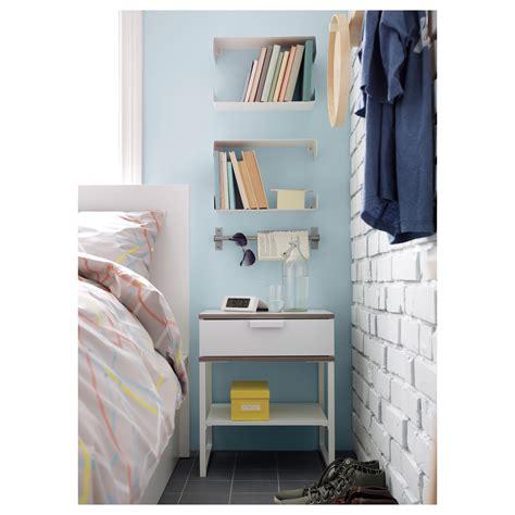 Ikea Bedside Table Grey Trysil Bedside Table White Light Grey 45x40 Cm Ikea