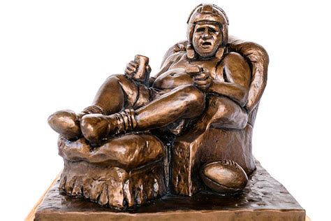 perpetual fantasy football trophy the armchair quarterback