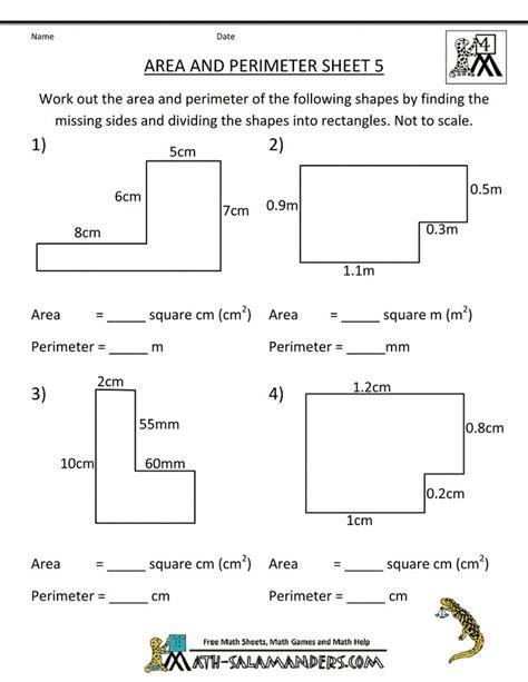 printable area c year 6 maths perimeter worksheets area perimeter
