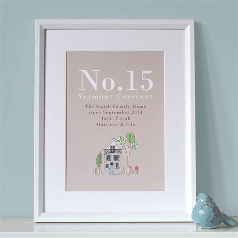 home prints personalised family home print by molly moo designs