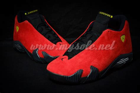 retro ferrari shoes air jordan 14 xiv retro quot ferrari quot new images and release