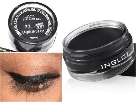Eyeliner Gel Makeup Forever inglot amc eyeliner gel 77 matte black review swatches