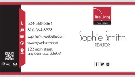 Real Living Business Cards 14 Real Living Business Card Template 14 Living Business Card Template