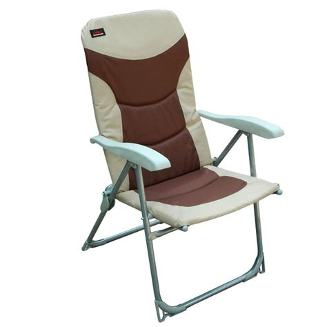 outdoor reclining chairs with fabric cushioned footrest as