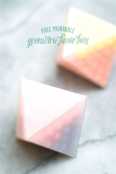 diy favor boxes templates diy geometric favor boxes template printable free