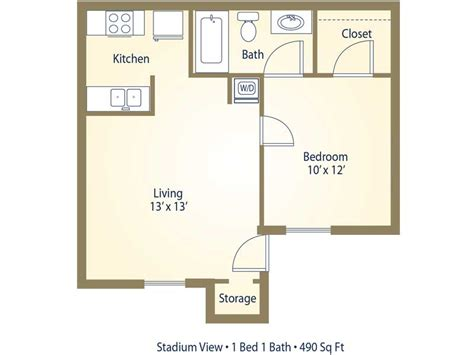 average size of 1 bedroom apartment apartment floor plans pricing stadium view college