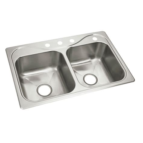 self kitchen sink sterling southhaven x self stainless steel 33 in