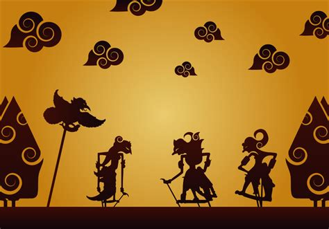 Topeng Vector wayang vector free vector stock graphics