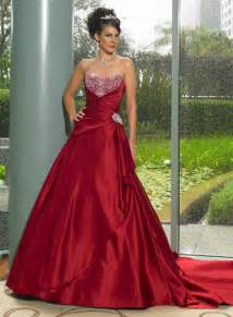 wedding gown picture beautiful red wedding gown