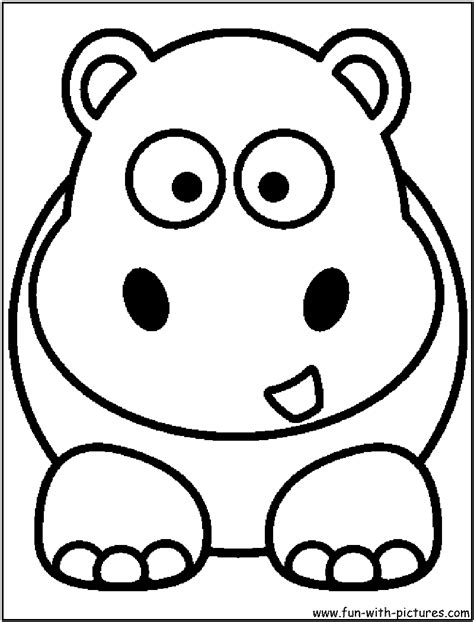 hippo face coloring page coloring pages