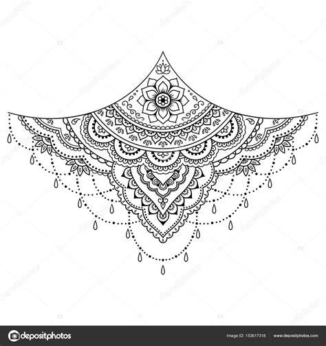 henna tattoo blume vorlage mehndi stil satz von