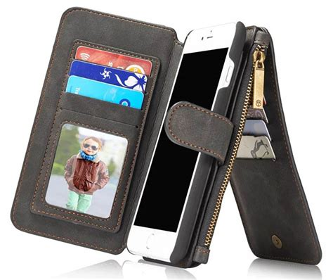 Ss5518 Caseme Multifunction Leather Wallet Galaxy S8 Plus Black caseme iphone 7 plus wallet black casesme