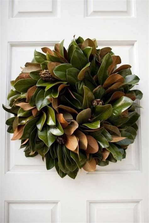 how to make a magnolia wreath southern living 10 unexpectedly cool holiday wreaths decorating lonny