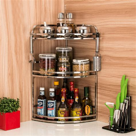 Stainless Steel Spice Racks For Kitchen Spice Rack Storage Rack 304 Stainless Steel Kitchen Spice