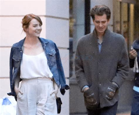 emma stone and andrew garfield back together emma stone and andrew garfield photographed together in