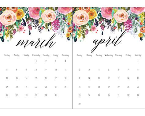 printable calendar 2017 floral free printable 2017 floral 5x7 calendar the cottage market