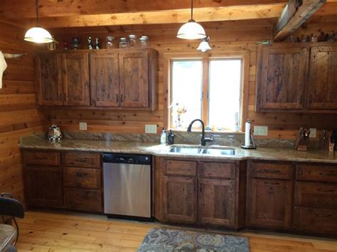 kitchen cabinets rustic pine quicua