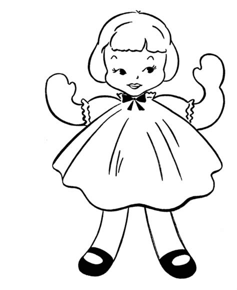 coloring page of doll doll coloring pages bestofcoloring com