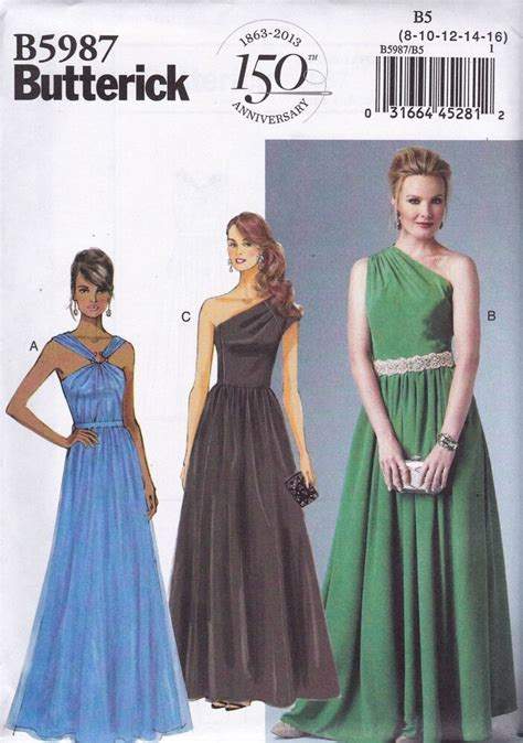 butterick easy sewing pattern misses evening prom dress