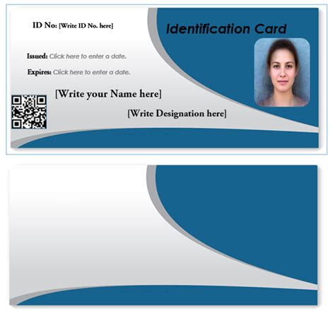 identity card template word id card template cyberuse